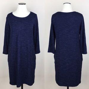 DALIA Stretch Knit Blue Dress NWT